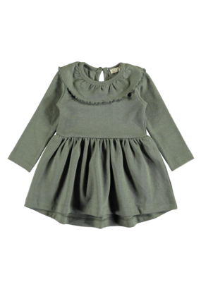 Pexi Lexi Pexi Lexi : Dress Ruffle Algave Green