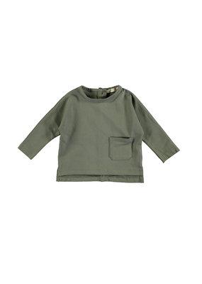 Pexi Lexi Pexi Lexi : TEE long sleeve pocket Algave green