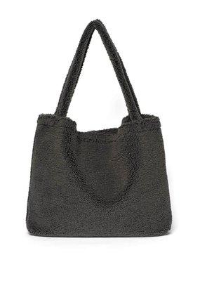 Studio Noos Studio Noos : Dark grey teddy mom-bag