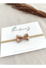 Mini and Loved Mini and Loved - Haarbandje bronze strik