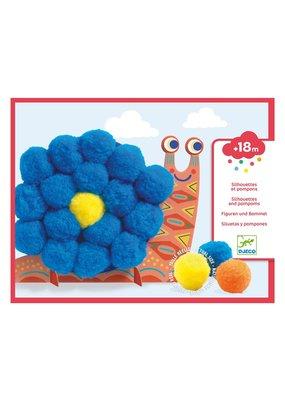 Djeco Djeco - Silhouetten en pompons