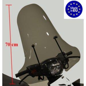 Pepeparts windscherm hoog + bev. set (made in EU) zip2000 smoke
