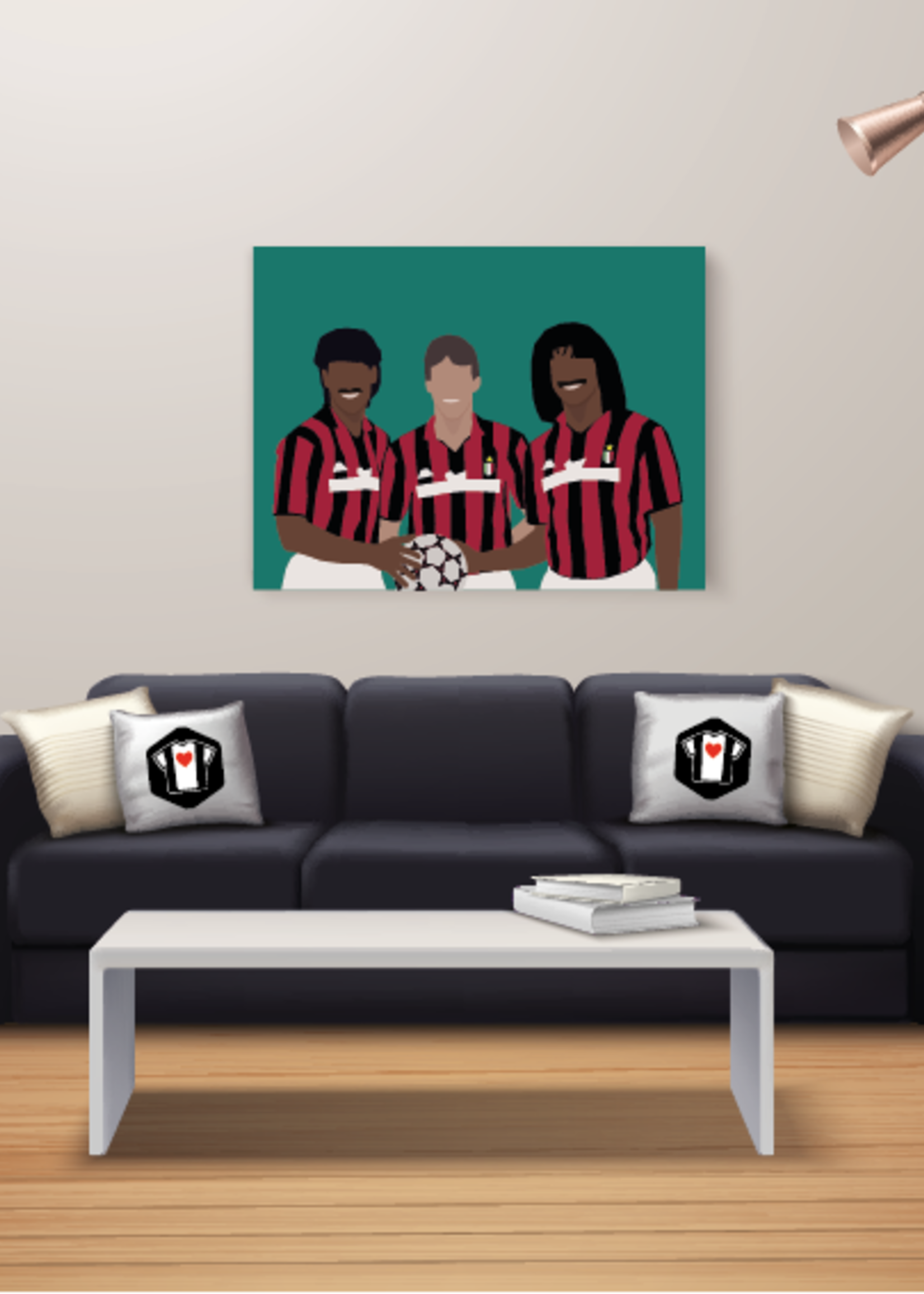 "We Love Football Art ""De grote drie"" We Love Football Art"