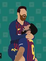 "We Love Football Art ""GOLDENES DUO"""