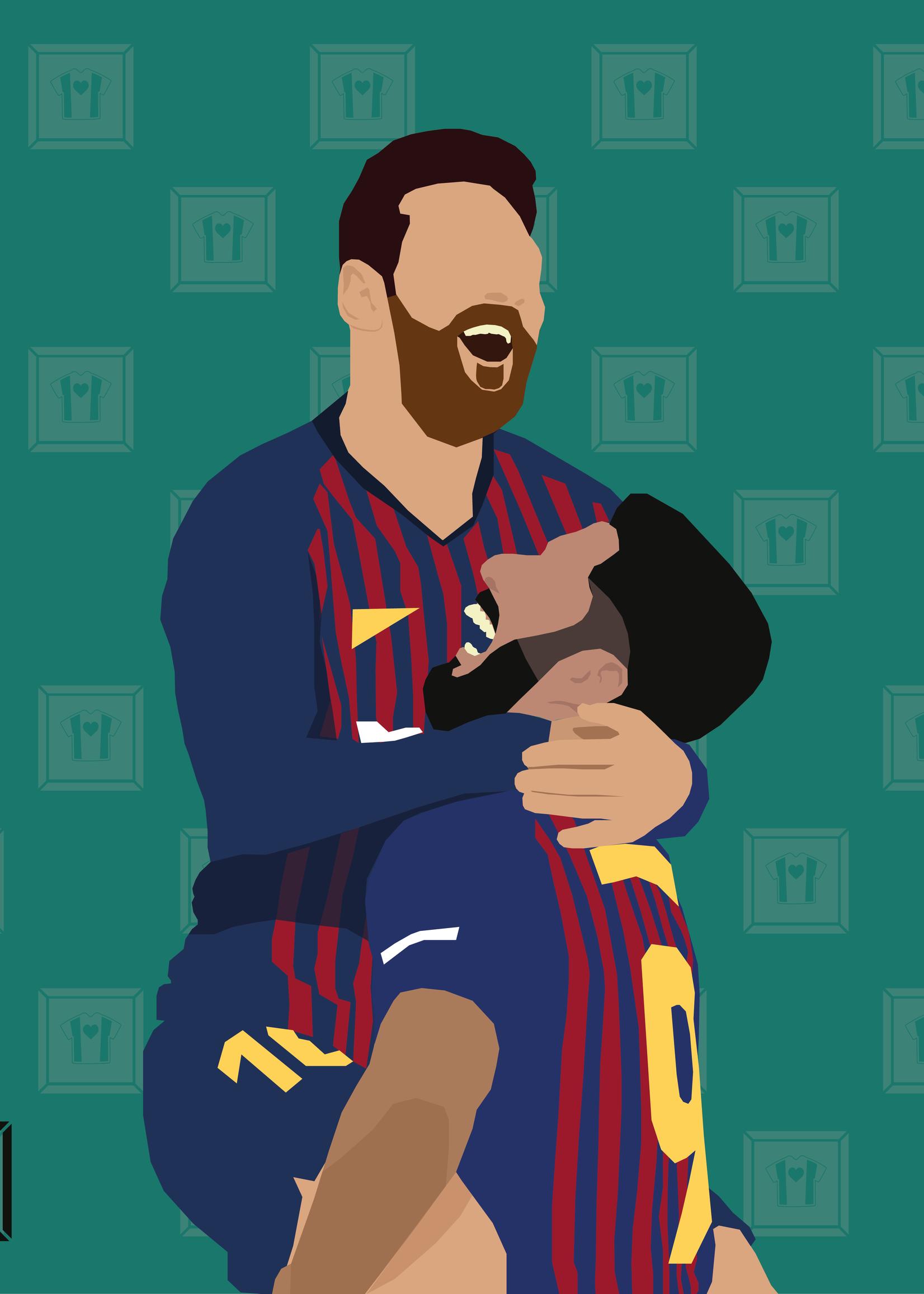 "We Love Football Art ""Goldenes Duo"" We Love Football Art"