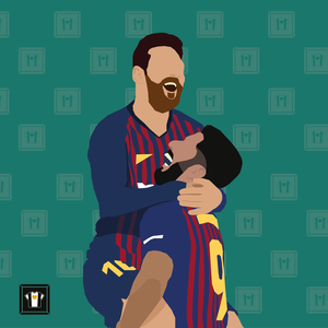 "We Love Football Art ""GOLDENES DUO"""