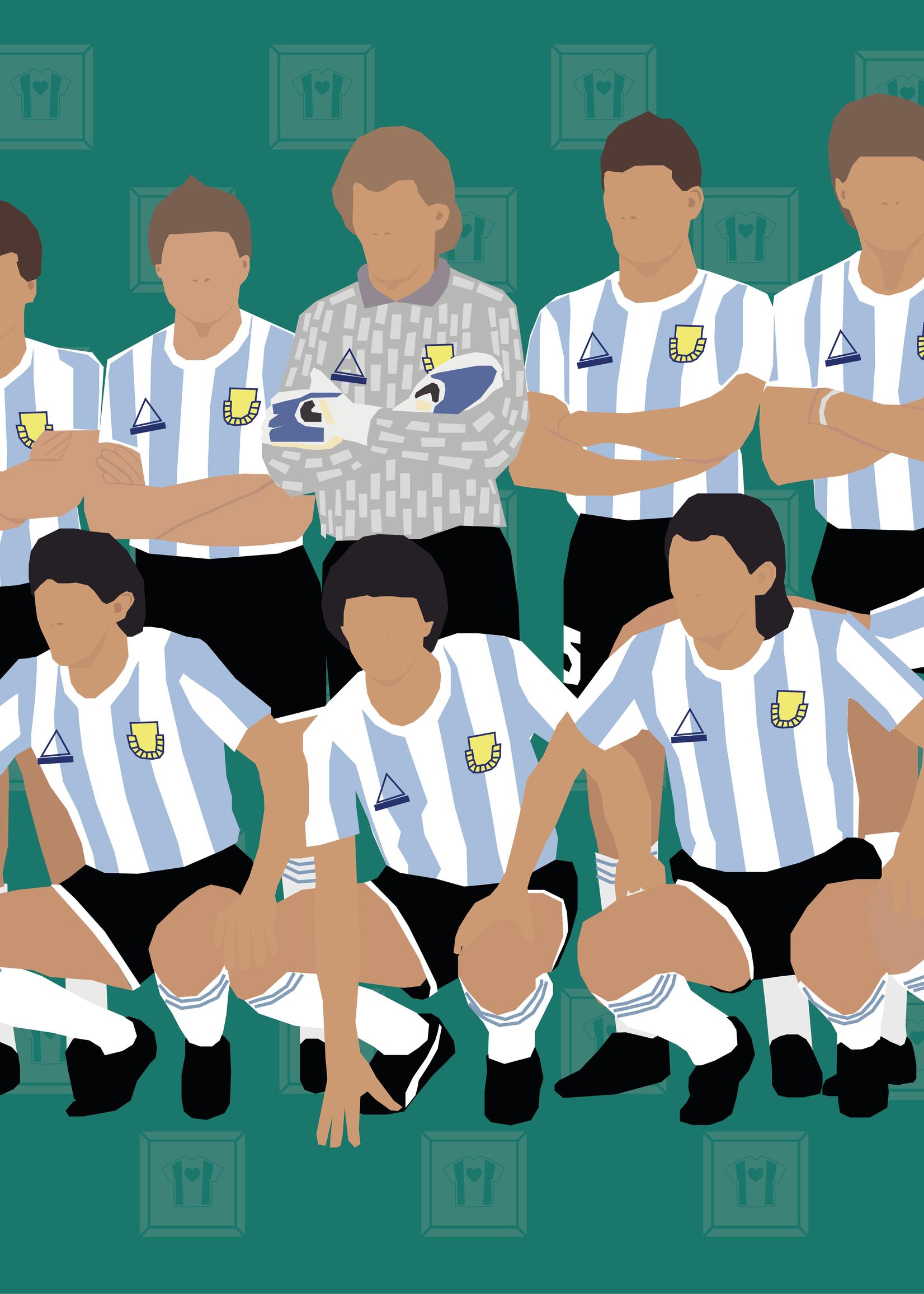 "We Love Football Art ""La Albiceleste '86"" We Love Football Art"