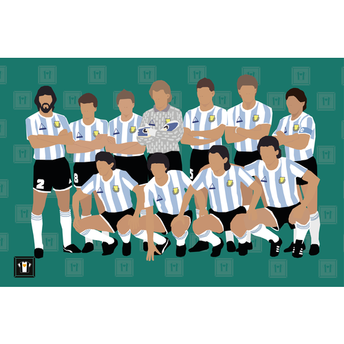 "We Love Football Art ""LA ALBICELESTE '86"""