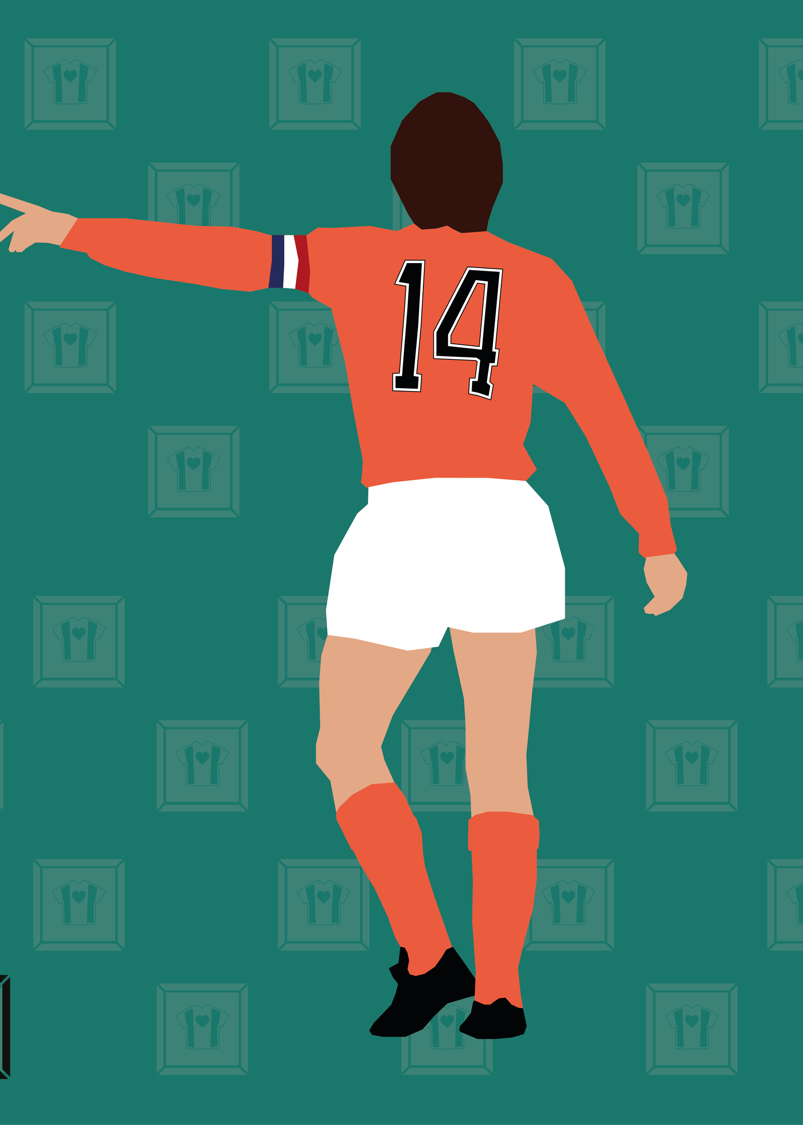 "We Love Football Art ""Number 14"" We Love Football Art"