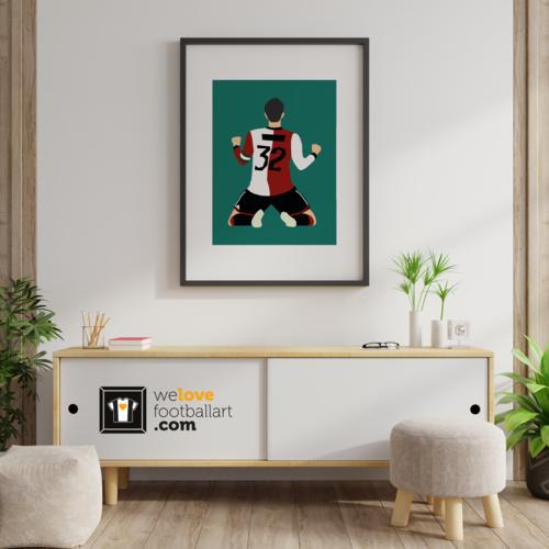 We Love Football Art Grijze Vos We Love Football Art