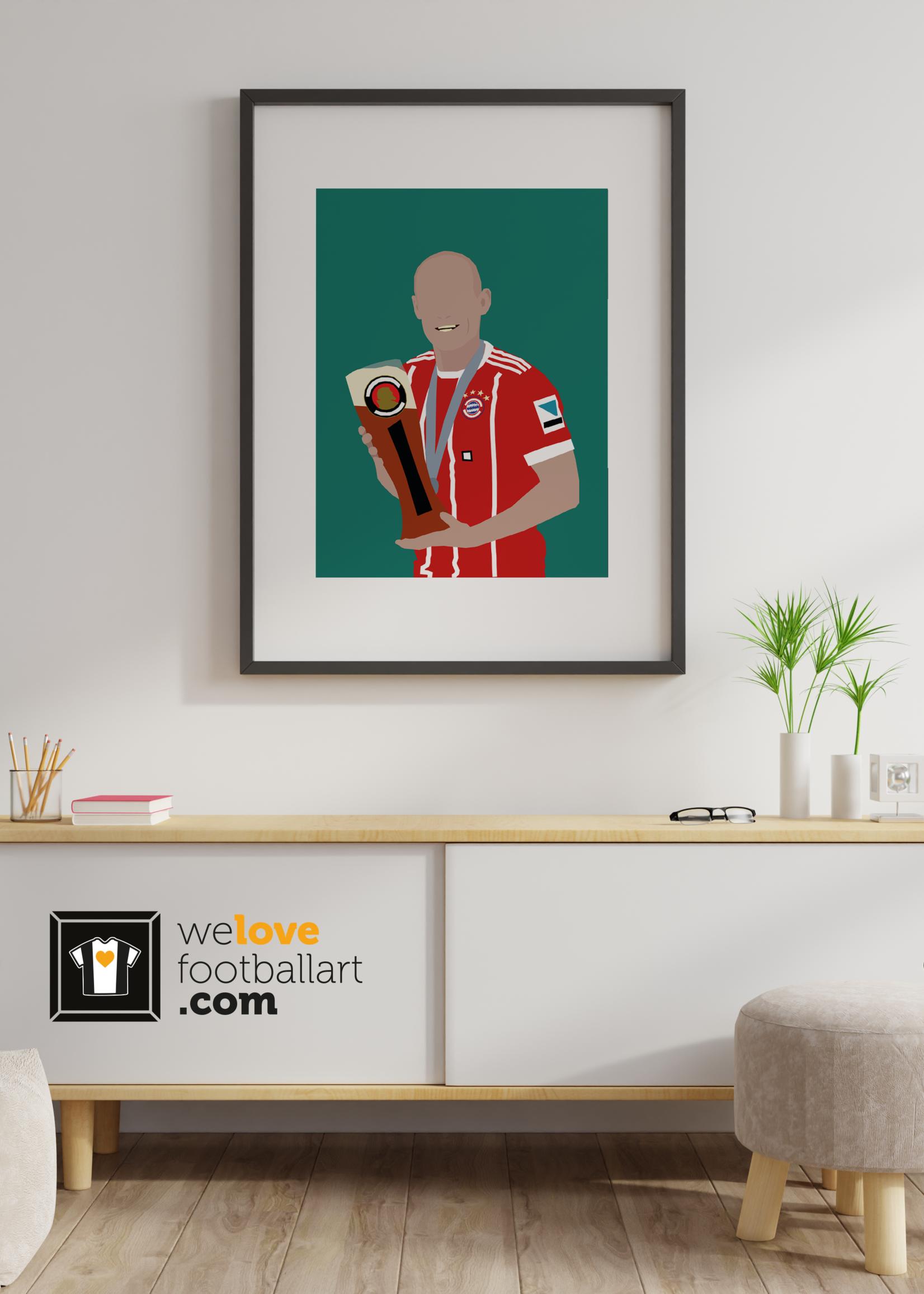 """We Love Football Art """"Man van glas"""" We Love Football Art"""