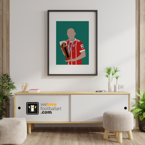 "We Love Football Art ""Man of glas"" We Love Football Art"