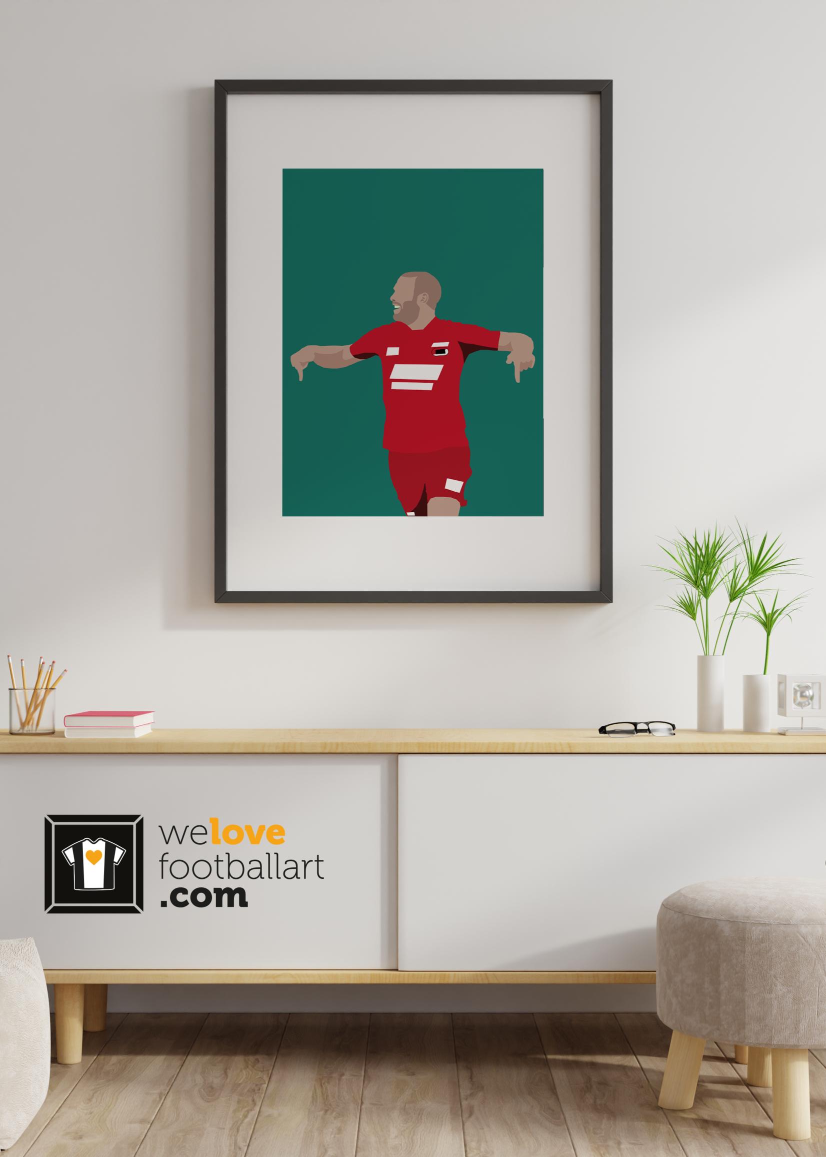 "We Love Football Art ""Ron concrete"" We Love Football Art"