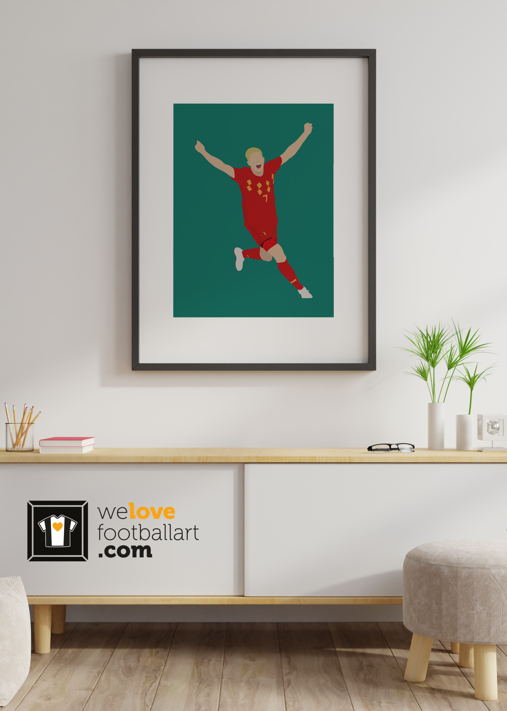 "We Love Football Art ""Koning Kev"" We Love Football Art"