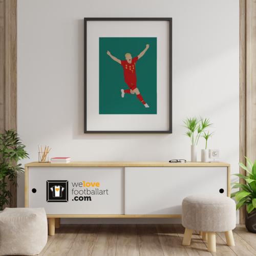 "We Love Football Art ""King Kev"" We Love Football Art"