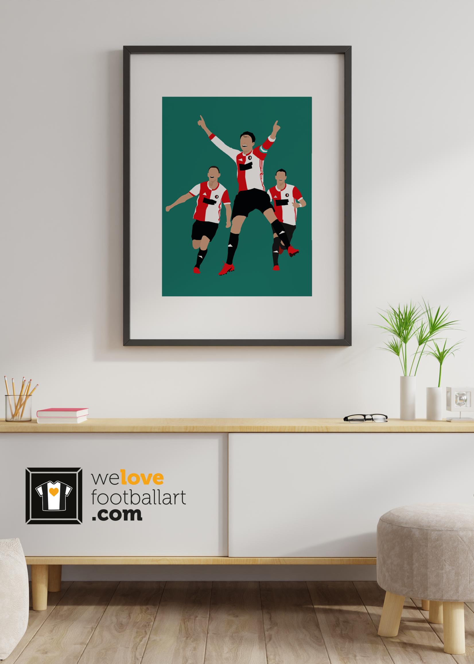 "We Love Football Art ""Hand in hand kameraden"" We Love Football Art"