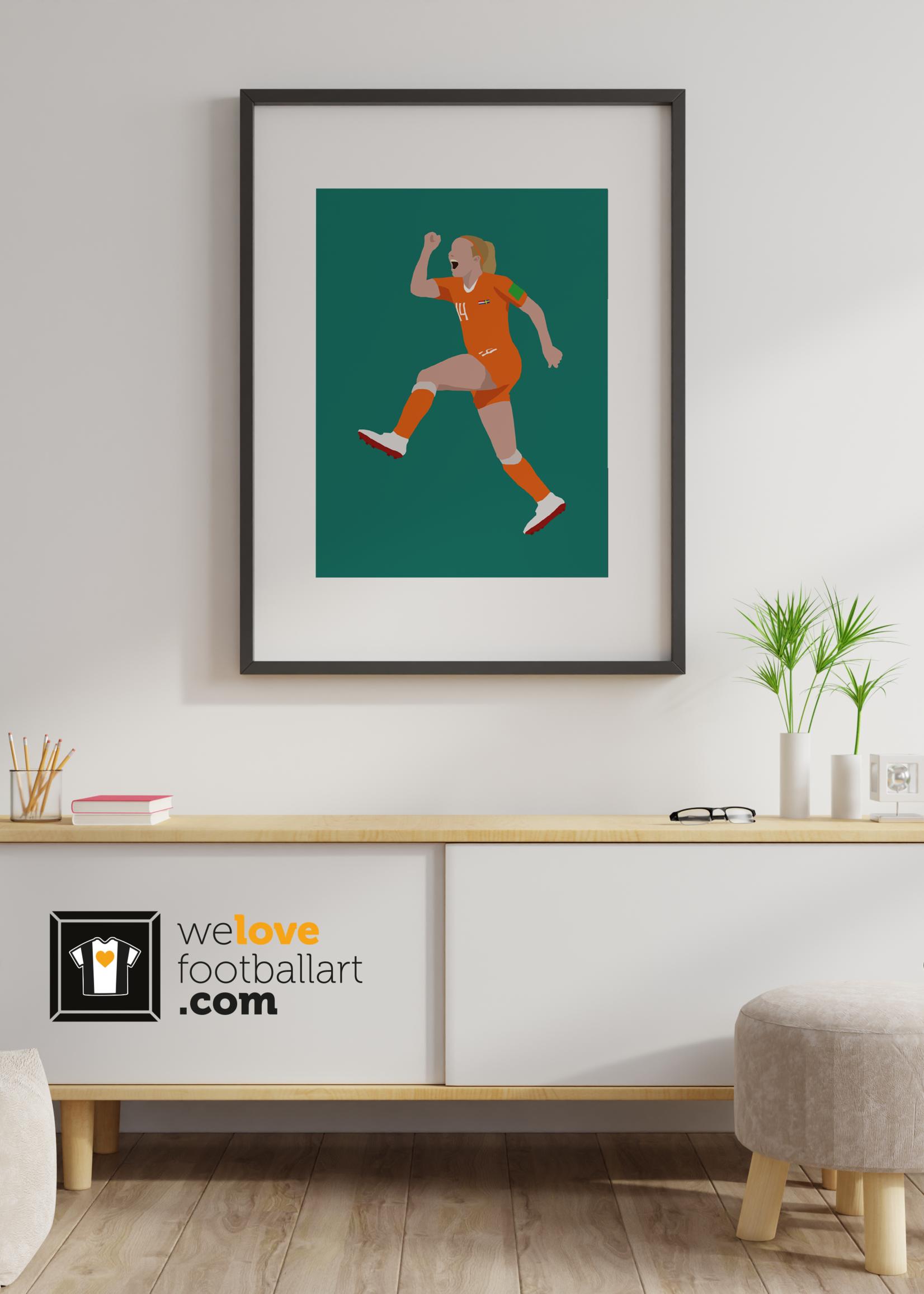 """We Love Football Art """"Everyone loves Jackie!"""" We Love Football Art"""
