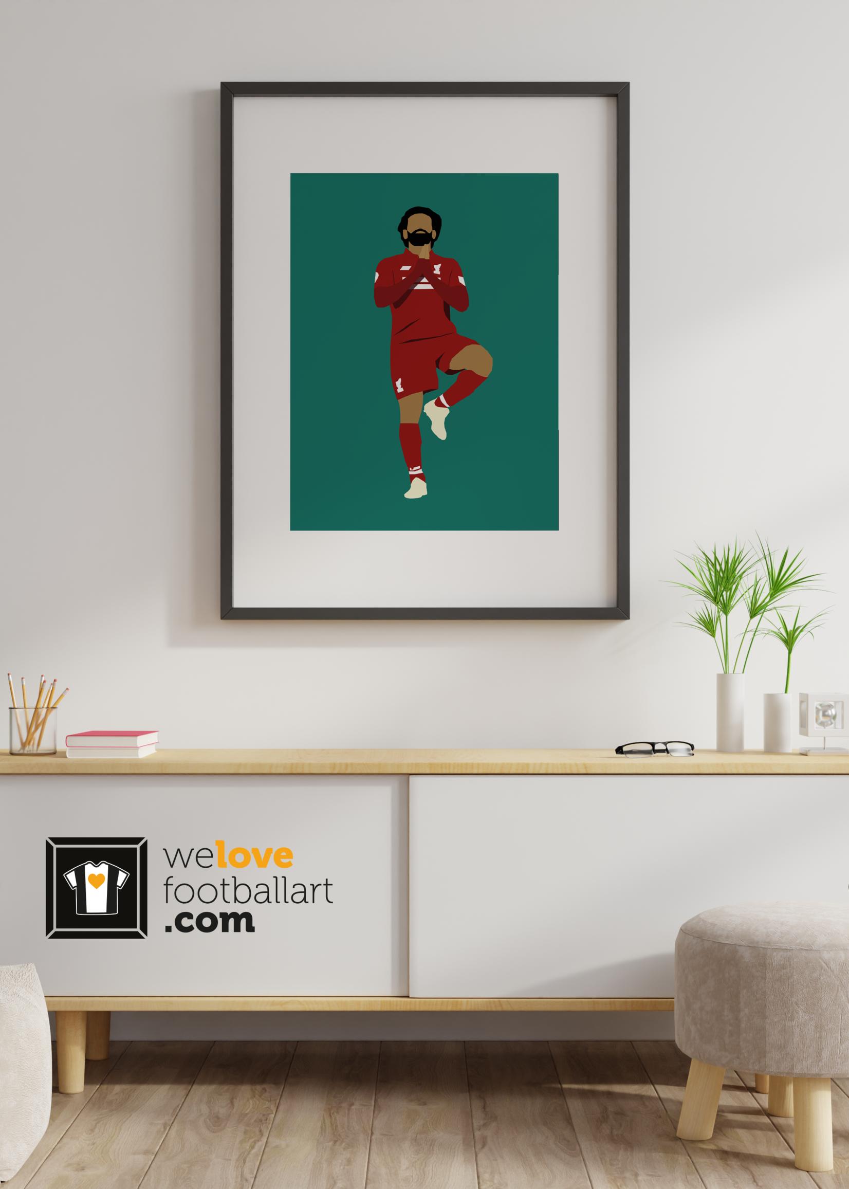 "We Love Football Art ""Egyptian King"" We Love Football Art"