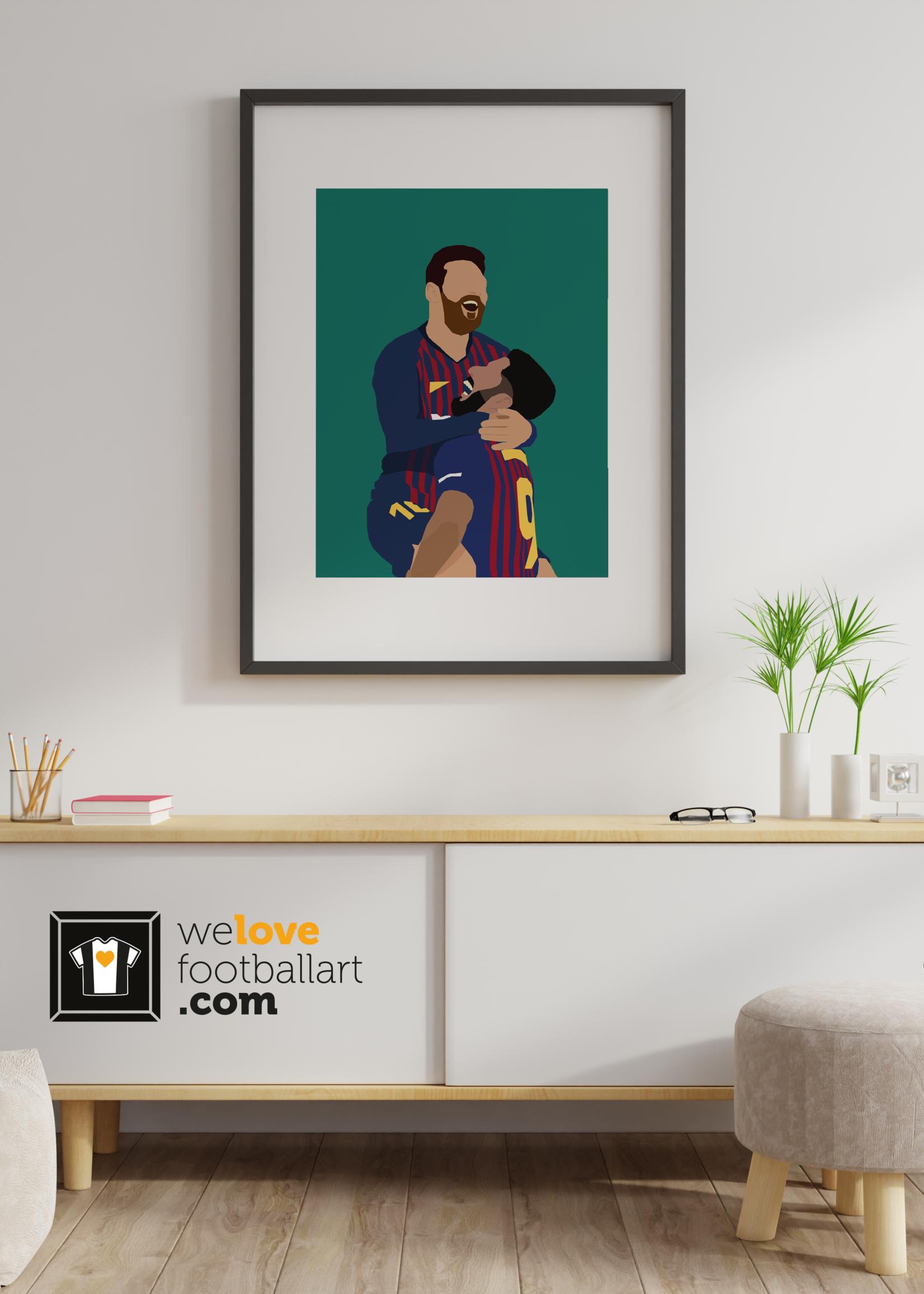 """We Love Football Art """"Golden duo"""" We Love Football Art"""