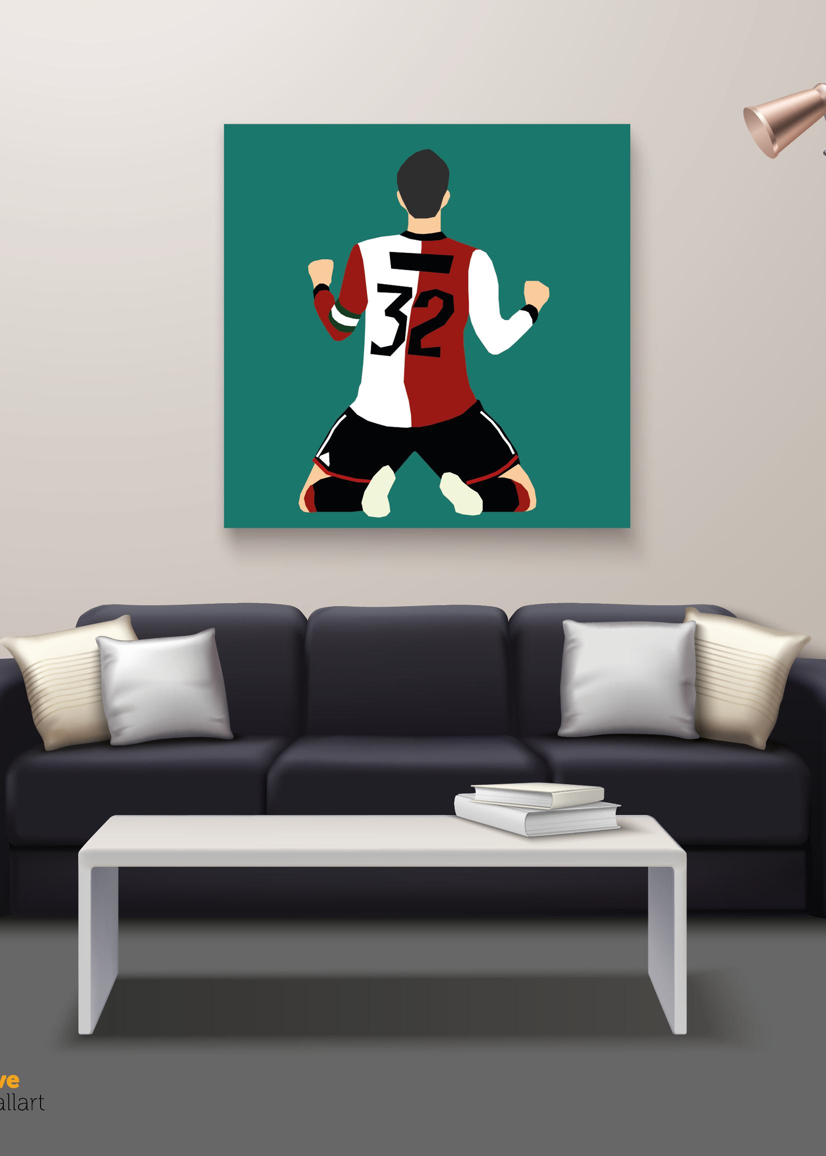 We Love Football Art Grey Fox We Love Football Art