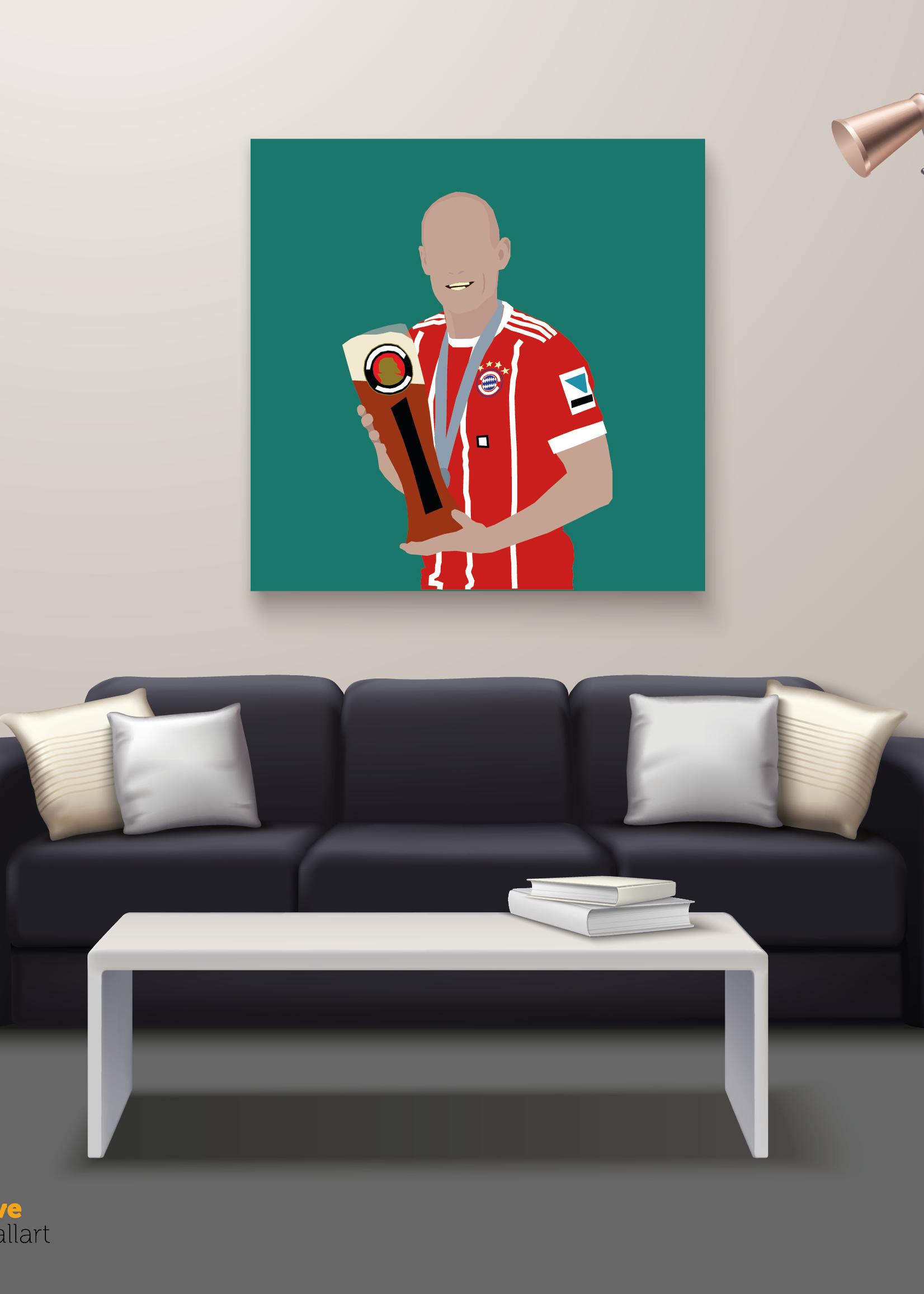 "We Love Football Art ""Man of glas"" We Love Football Art"