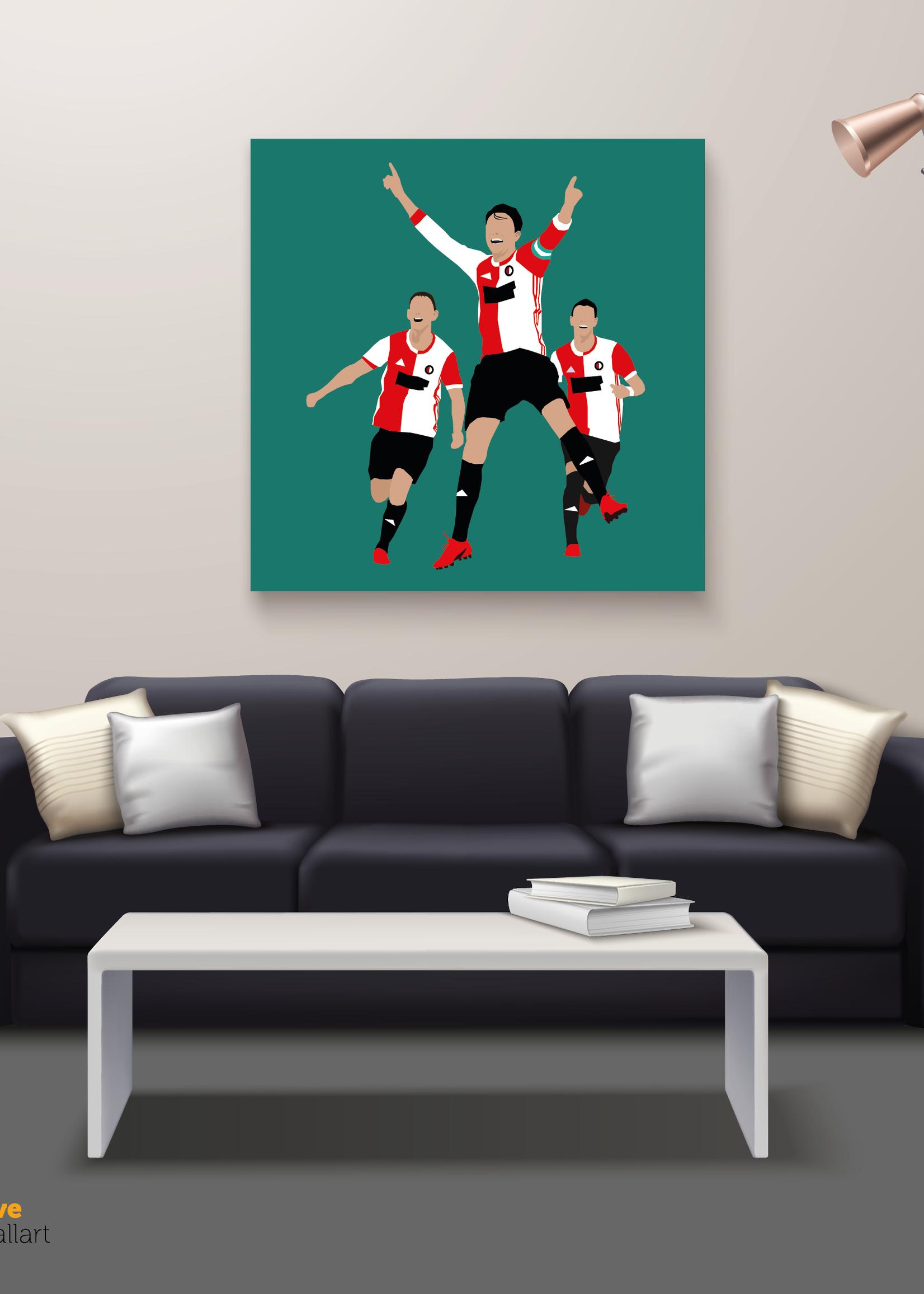 "We Love Football Art ""Hand in hand comrades"" We Love Football Art"