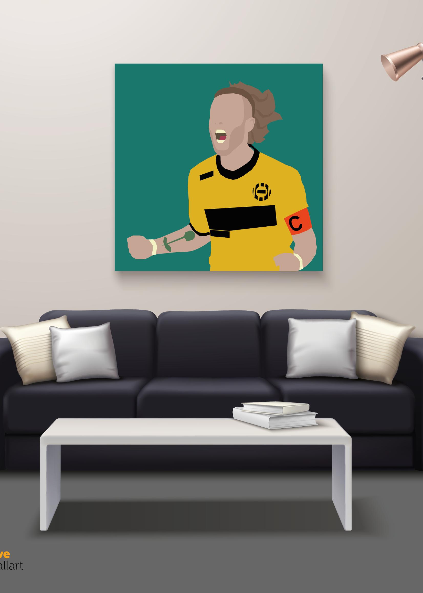 """We Love Football Art """"Jongens wat zijn we blij"""" We Love Football Art"""