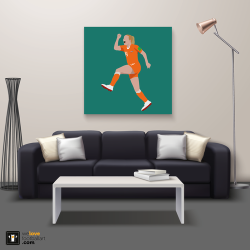 "We Love Football Art ""Iedereen houdt van Jackie!"" We Love Football Art"