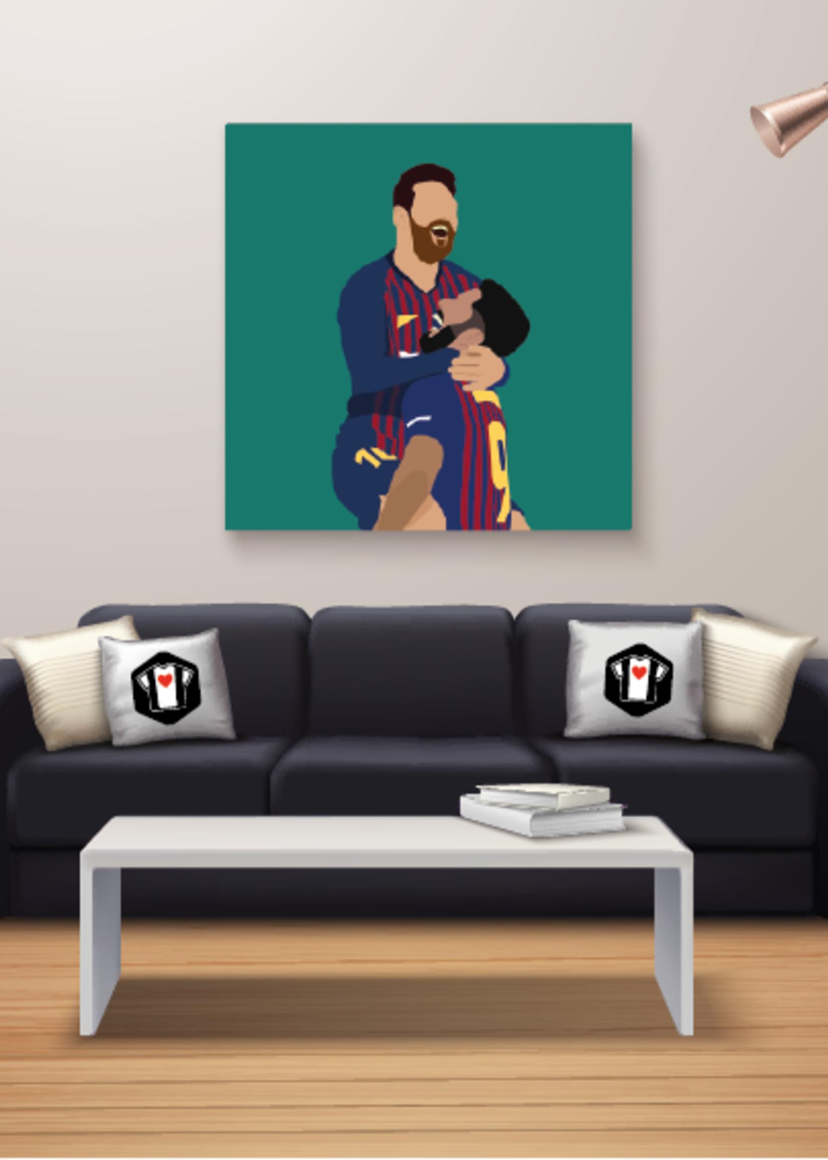 "We Love Football Art ""Gouden duo"" We Love Football Art"