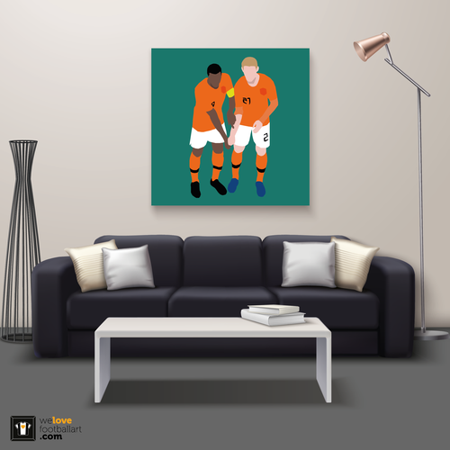 "We Love Football Art ""Black and white"" We Love Football Art"