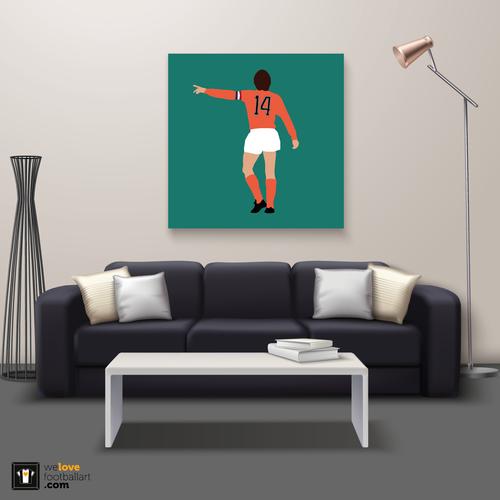 "We Love Football Art ""Number 14"" We Love Football Art"