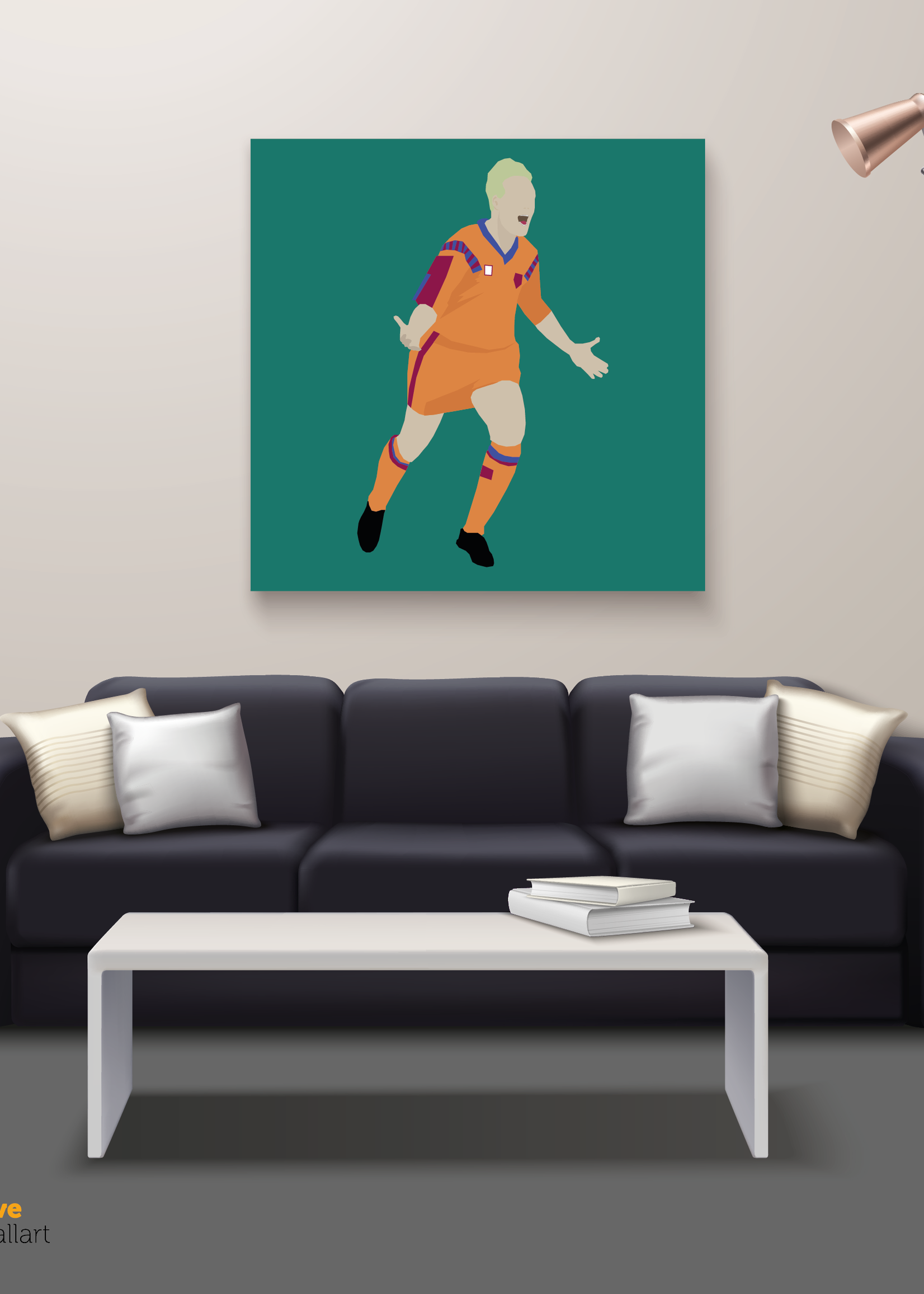 "We Love Football Art ""Schneeflocke"" We Love Football Art"