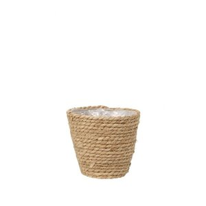 Alflora Pot paper and straw naturel