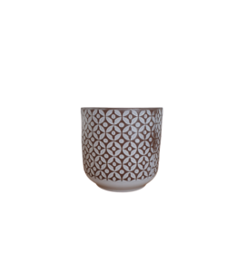 Pot decorated with a pattern