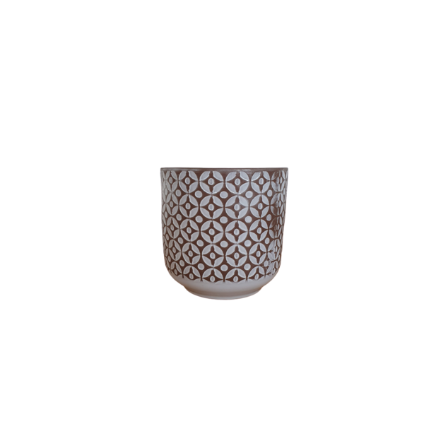Alflora Pot decorated with a pattern