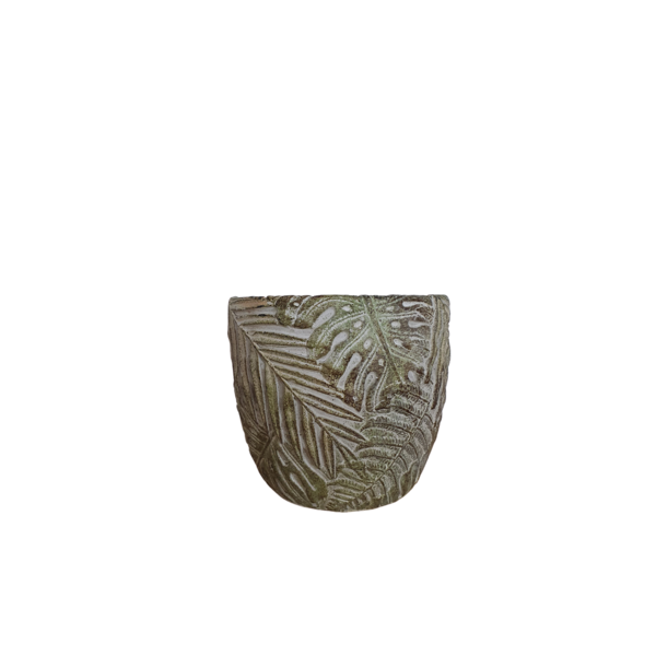 Alflora Pot with a leaf pattern