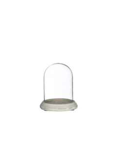 Bell jar with glass cover