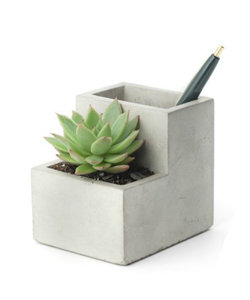 Pen holder with concrete planter S