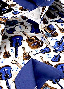 Heren Overhemd - Guitar Hero Satin - Wit-2