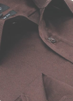 Heren Overhemd - Luxury Plain Satin - Bruin-2