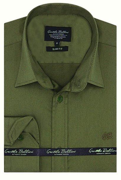Heren Overhemd - Luxury Plain Satin - Groen