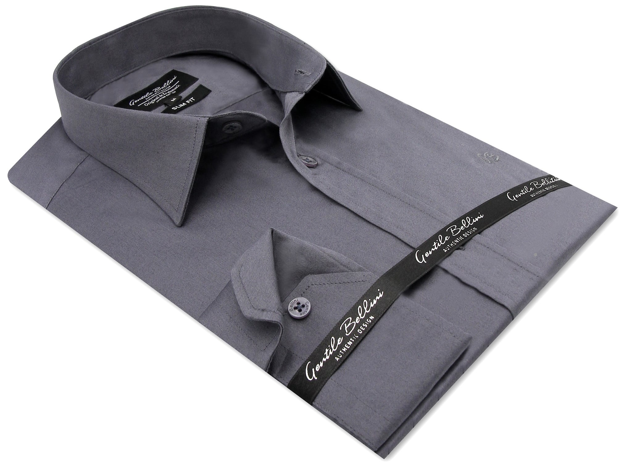 Heren Overhemd - Luxury Plain Satin - Grijs-3