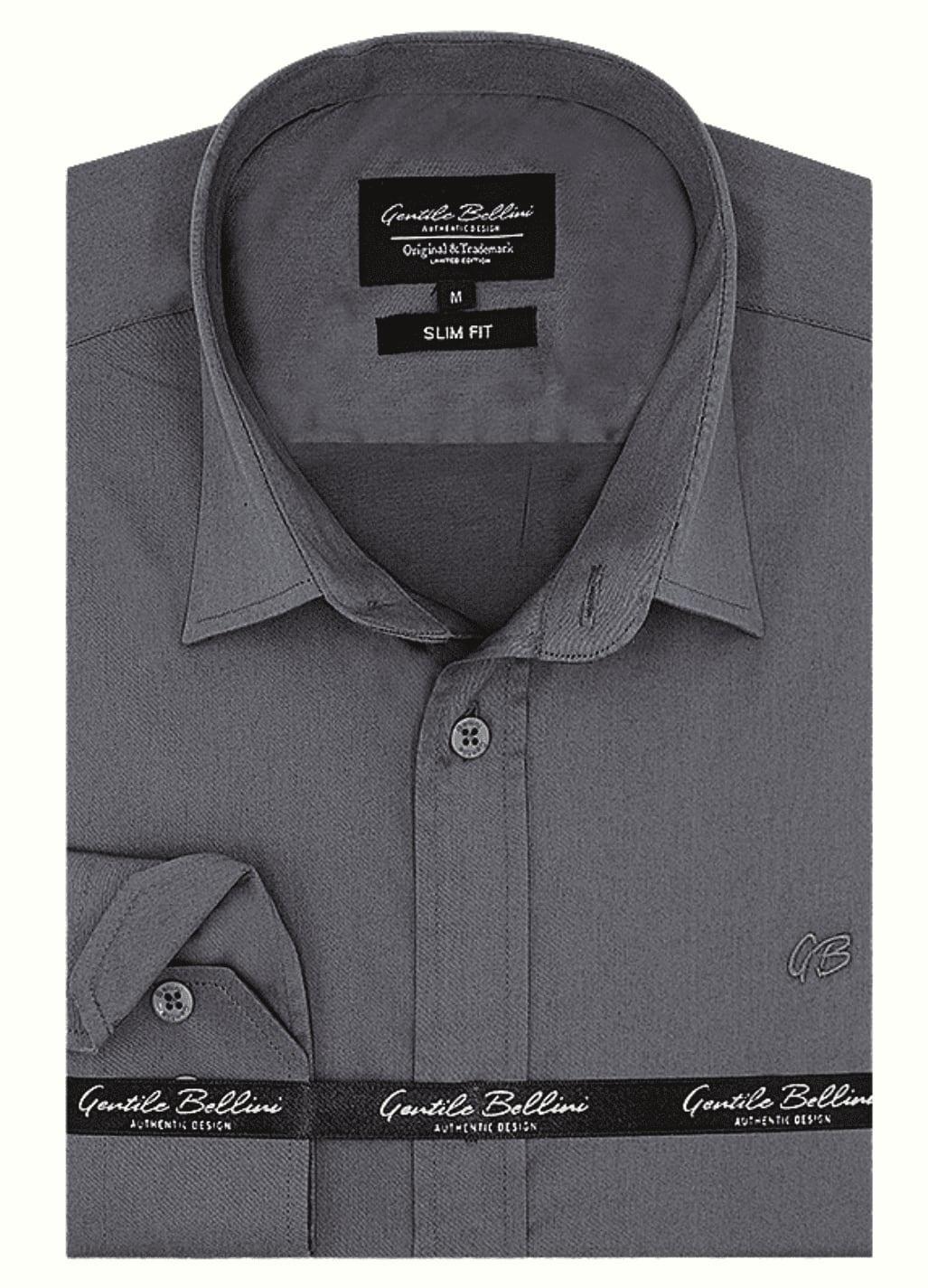 Heren Overhemd - Luxury Plain Satin - Grijs-1