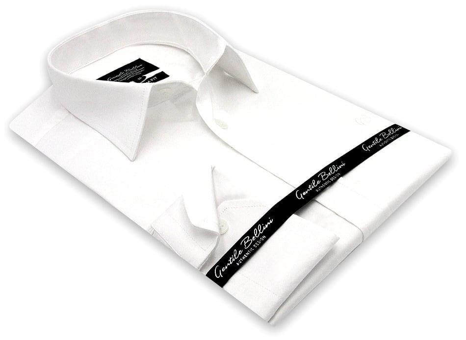 Heren Overhemd - Luxury Plain Satin - Wit-3