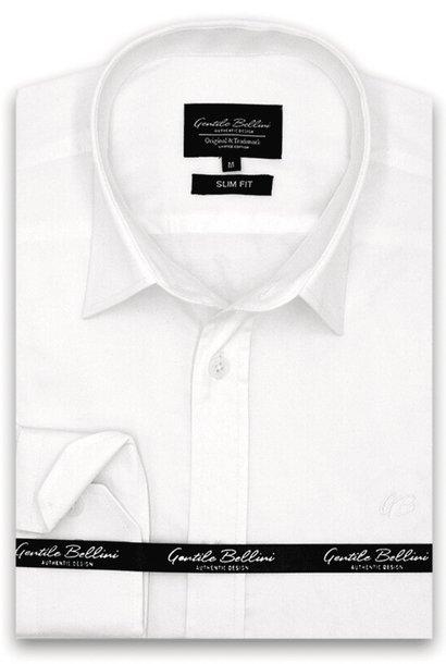Heren Overhemd - Luxury Plain Satin - Wit