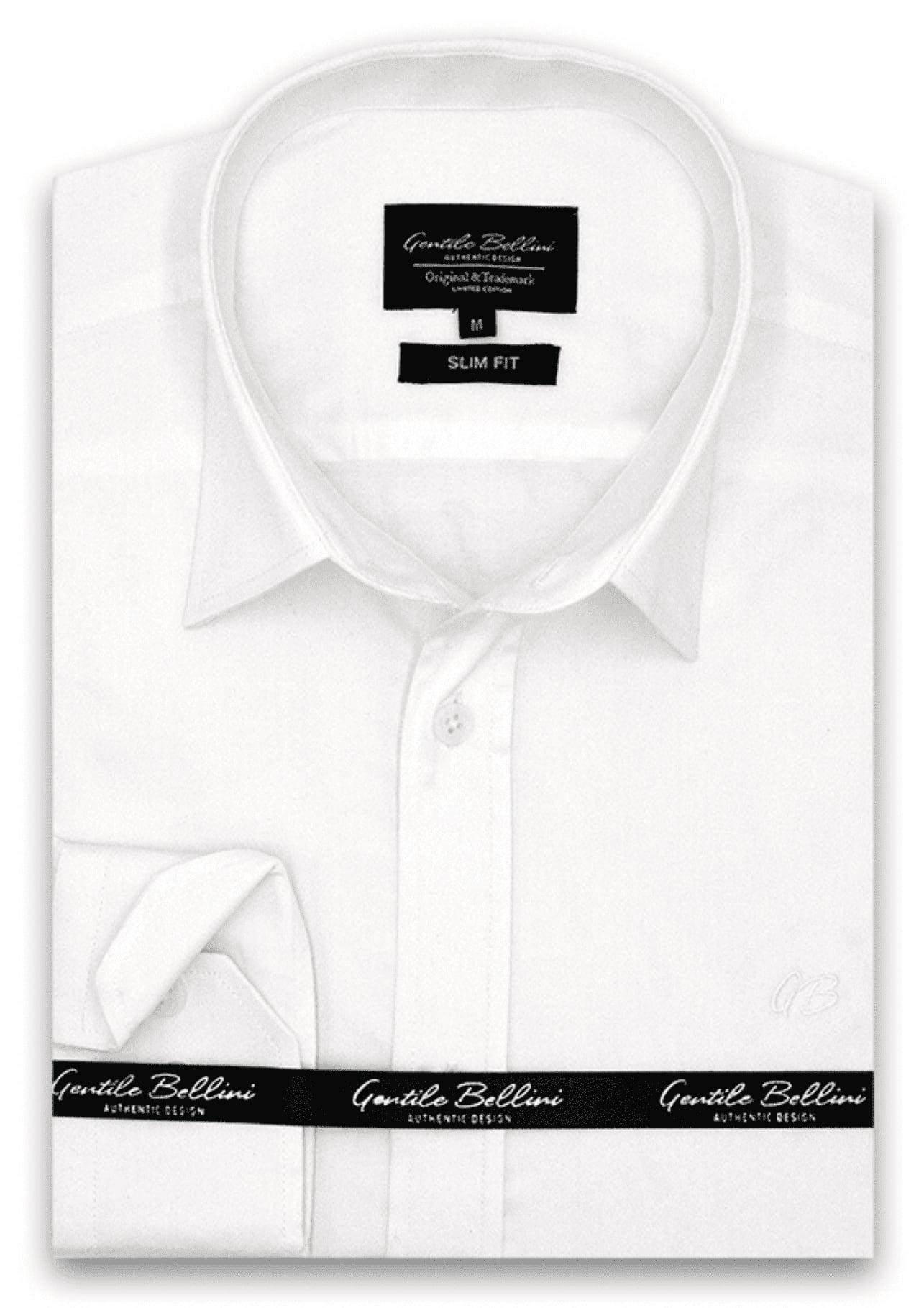 Heren Overhemd - Luxury Plain Satin - Wit-1