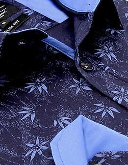 Heren Overhemd - Autumn Leaf - Blauw-2
