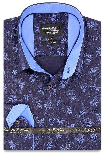 Heren Overhemd - Autumn Leaf - Blauw