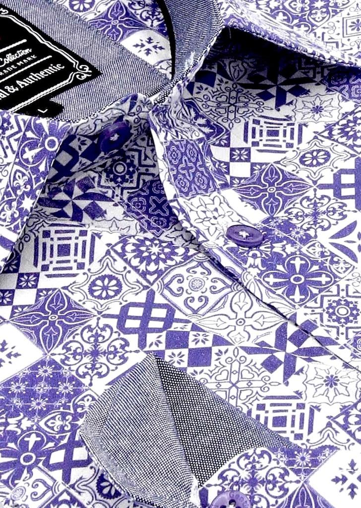 Heren Overhemd - Zaragon Mosaic - Wit-2