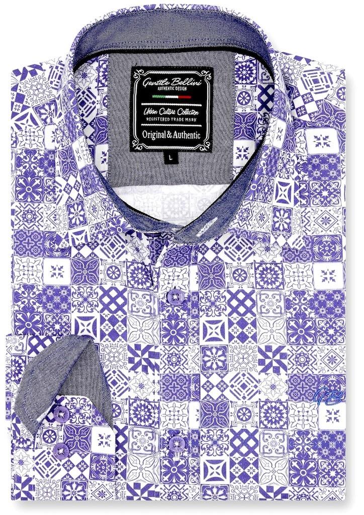 Heren Overhemd - Zaragon Mosaic - Wit-1